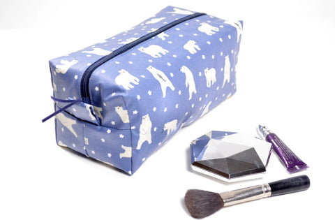 Blue Polar Bear Toiletry Bag