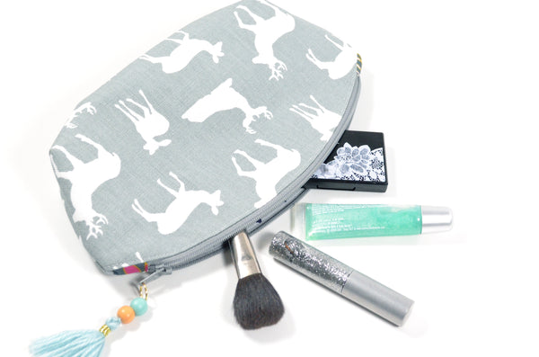 Grey Deer Curved Pouch