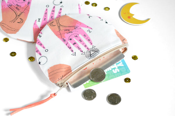 Palm Chart Round Coin Purse