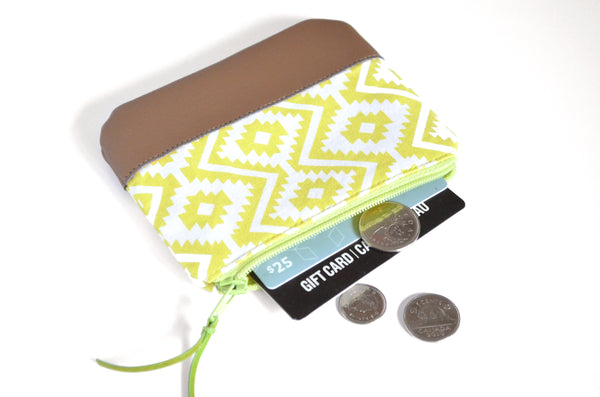 Green Fiesta Leather Coin Purse