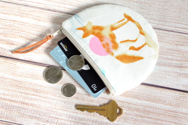 Desert Coyote Round Coin Purse