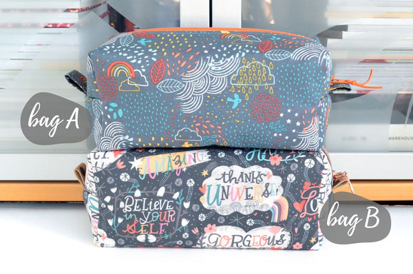 Self Love & Cloudy Sky Boxy Toiletry Bags