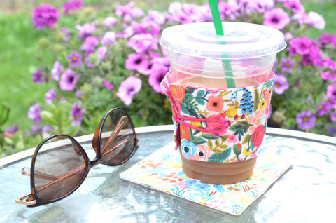 Rifle Paper Co Garden Party Coffee Sleeve