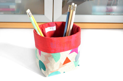 Geometric Shapes Fabric Plant Pot