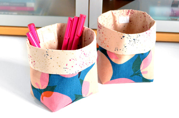 Peaches Fabric Plant Pot