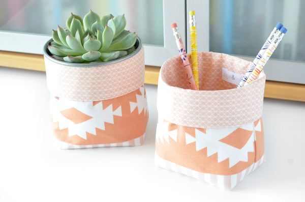 Peach Arizona Fabric Plant Pot