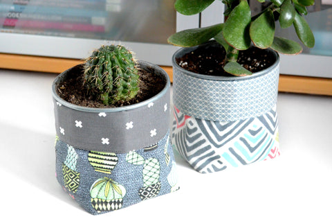 Cactus & Boho Fabric Plant Pot
