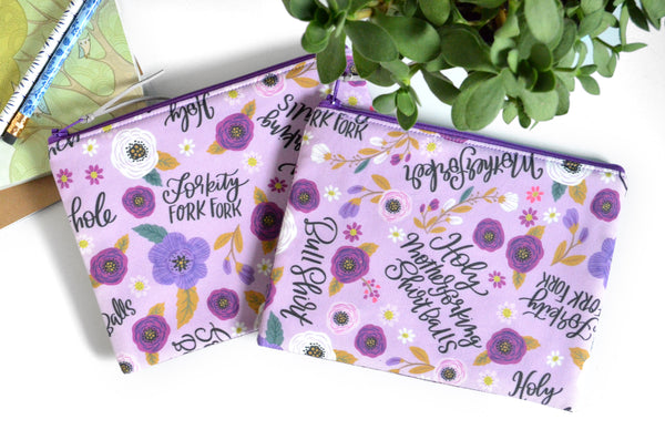 "Small Pouch - Purple Not So ""Sweary"""