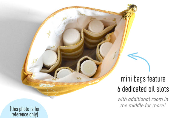 "Mini Yellow ""Sweary"" Essential Oil Bag"