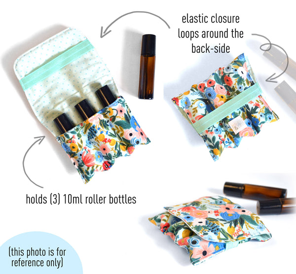 Butterfly & Floral Roller Bottle Holder