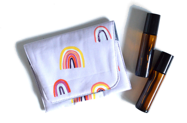 Purple Rainbow - Mini EO Bag & Roller Bottle Holder