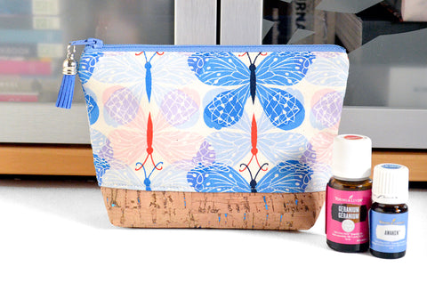 Mini Blue Butterfly Essential Oil Bag