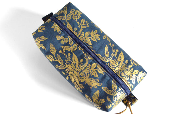 Gold Rifle Paper Co Toiletry Bag