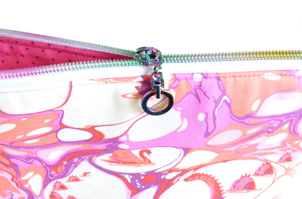 Marbled Cotton Candy Jumbo Toiletry Bag