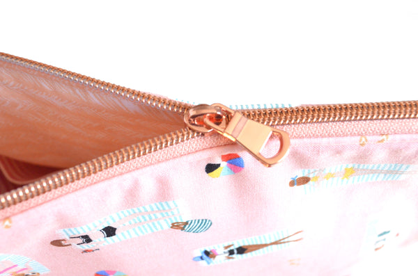 Rifle Paper Co Pink Beach Jumbo Toiletry Bag