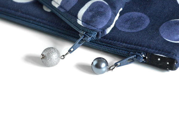 Navy Moon Phase Essential Oil Bag