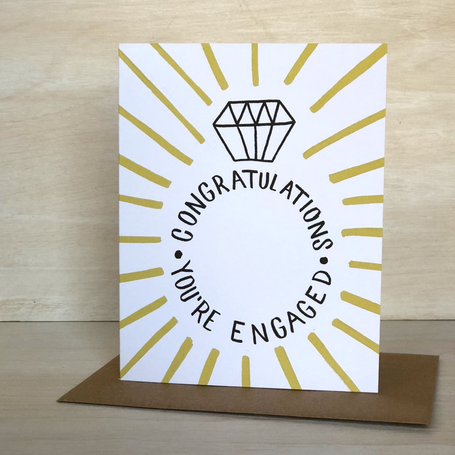 Card: You're Engaged, Ring Bling