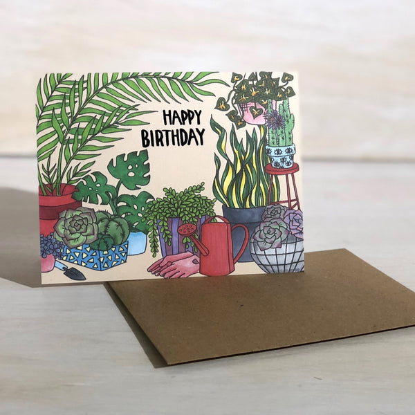 Card: Plant Birthday, Moxie Fox