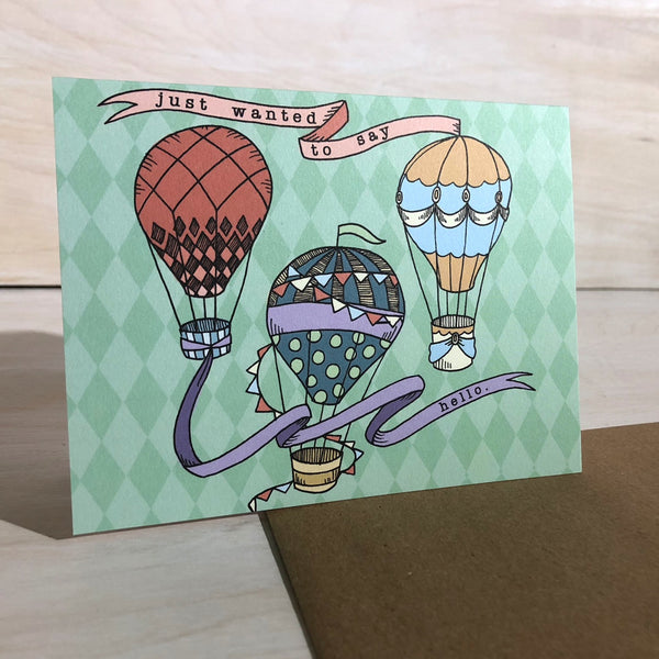 Card: Hot Air Balloons, Moxie Fox