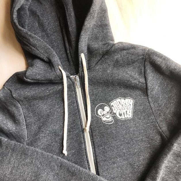 Hoodie Sweatshirt: Jersey City Screaming Skull