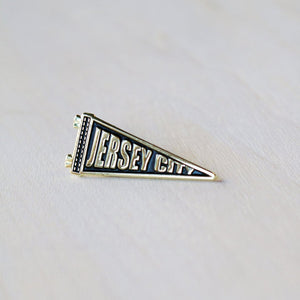 Enamel Pin: Jersey City Pennant, 1.25""