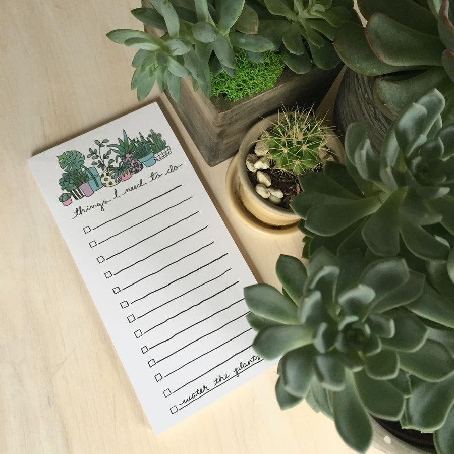 Water the Plants Notepad