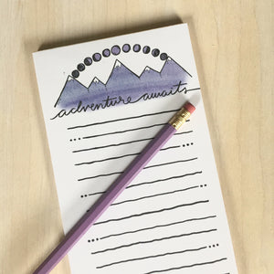 Adventure Awaits (Mountains) Notepad