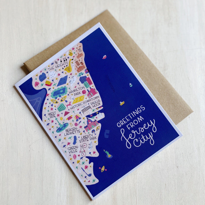 Card: Greetings from Jersey City