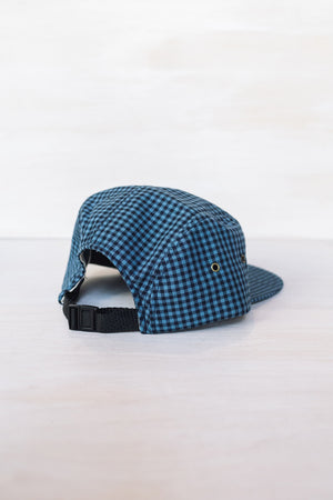 Gingham Indigo 5-Panel Cap