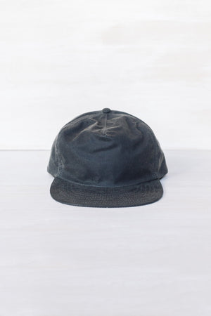 Charcoal Waxed Cotton 6-Panel Cap