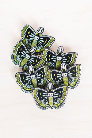 Enamel Pin: Death's Head Moth, 2""