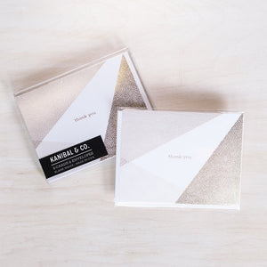 Card Box Set: Gold Thank You