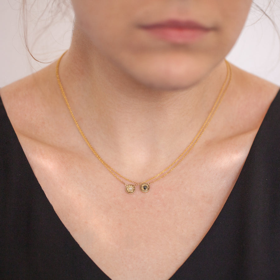 Necklace: 14k Yellow Gold Helios Pendant