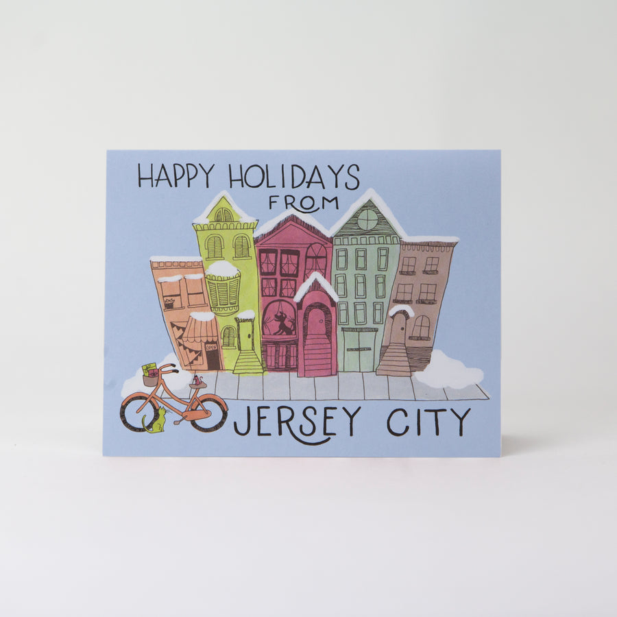 Card: Happy Holidays from Jersey City, Moxie Fox