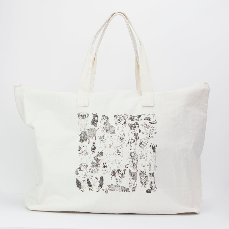 Tote: Animals of Jersey City, Cotton 10oz