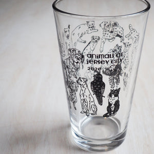 Pint Glass: Animals of Jersey City
