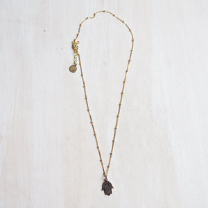 Necklace: Hamsa Bronze