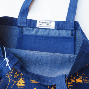 Denim Tote: Jersey City Map