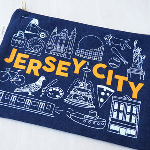 Flat Zip Pouch: Jersey City