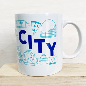 Mug: Jersey City Map w. Bag, 11oz