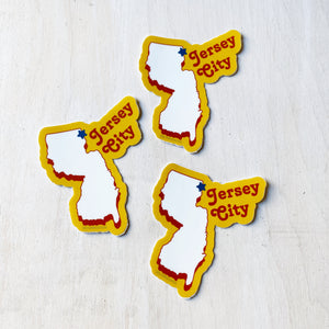 Sticker Pack: Jersey City NJ, Set of 3