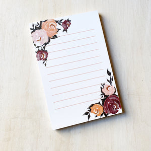 Notepad: Once Upon A Floral, 4x6