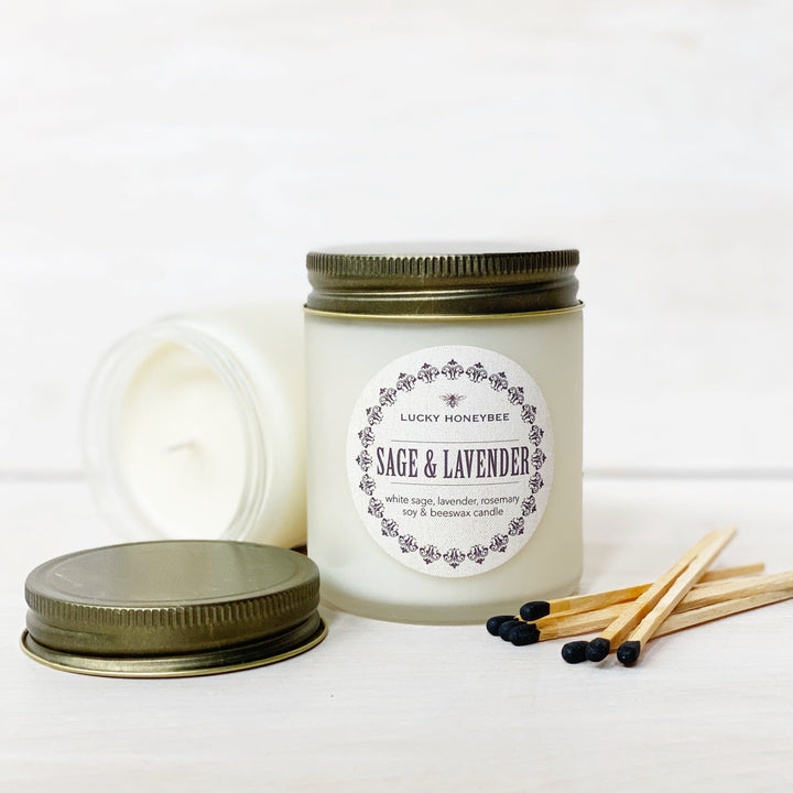 Candle: Sage & Lavender, Lucky HoneyBee