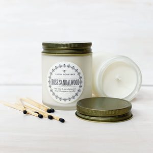 Candle: Rose Sandalwood, Lucky HoneyBee