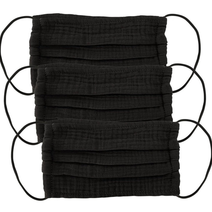 Face Mask: Black, 3 Pack