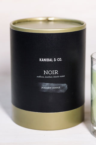 Noir scented candle, box and jar