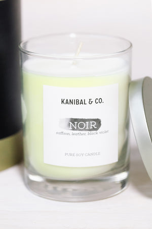Noir scented candle, glass jar