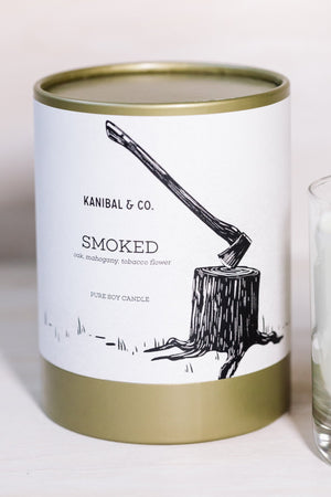 Smoked scented candle, box
