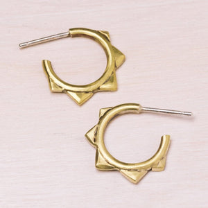 Earrings: Spike Hoops
