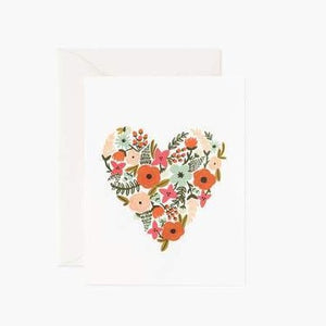 Card: Floral Heart